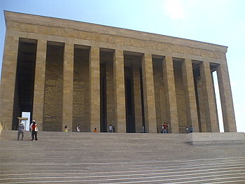 Anıtkabir, el mausoleo de Kemal Atatürk, en Ankara, Turquía