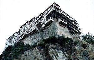 Dionysiou Monastery - External view of the monastery.