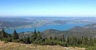 Salzkammergut - View of the Lake Attersee