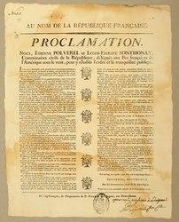 Proclamation au nom de la République française