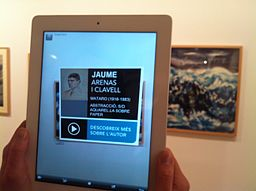 Augmented reality at Museu de Mataró linking to Catalan Wikipedia (15)