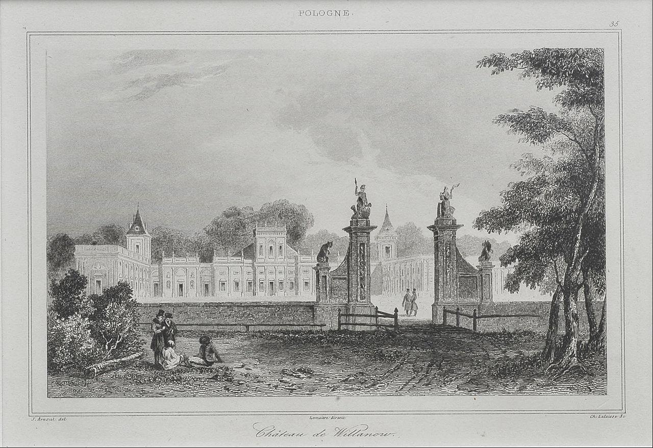 Огюстен Франсуа Леметр - Вилянувский дворец со стороны парадного двора - Google Art Project.jpg