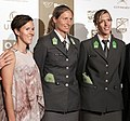 Austrian Sportspeople of the Year 2014 red carpet 07 Doris Schwaiger Barbara Hansel Stefanie Schwaiger.jpg