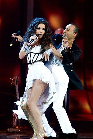 Azerbaijan in the Eurovision Song Contest - Image: Aysel and Arash semifinal