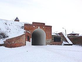 Алексеевские ворота и земляной вал Азовской крепости Азовская крепость