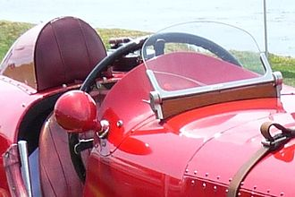 Windshield - Singled aero screen on Bentley Blower No.1