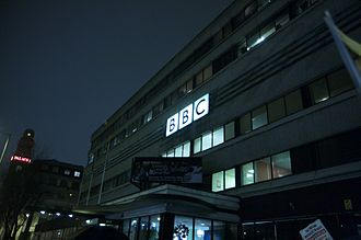 New Broadcasting House (Manchester) - New Broadcasting House at night