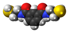 Space-filling model of the BDTH2 molecule