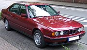 BMW Series 5 Old Model red vr