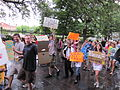 BP Oil Spill Protest Jax Square Wet March 7.JPG