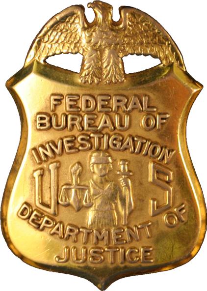 Датотека:Badge of a Federal Bureau of Investigation special agent.png