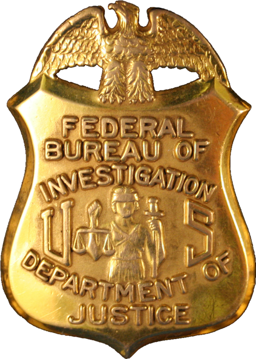 Badge of a Federal Bureau of Investigation special agent