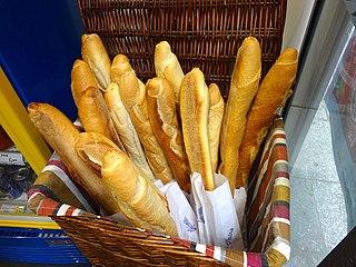 Baguette Elongated type of bread