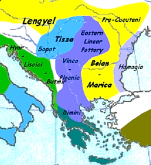 Map showing the main cultures of Neolithic Greece c. 7000 BC — c. 3200 BC