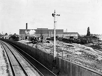Ballarat - Development of the Ballarat North Workshops was a major initiative to capitalise on the city's burgeoning role as a railway town and transition from a declining gold mining industry