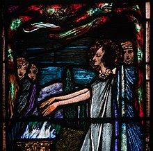 Stained-glass created by Harry Clarke