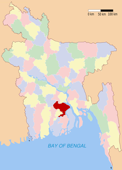 Location of Barisal in Bangladesh