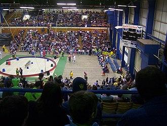 Bangor Auditorium - Interior of Auditorium, set up for the Shrine Circus