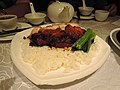 Barbecue pork and grilled pork jelly slices rice.jpg