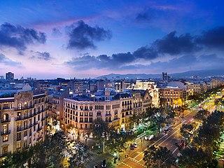 City block in Barcelona