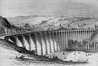 Joseph Locke - Barentin Viaduct after rebuilding