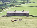 Barn on S slopes of Kisdon - geograph.org.uk - 225152.jpg