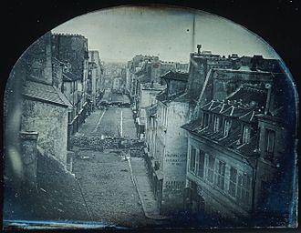 June Days uprising - Barricades on rue Saint-Maur during the uprising, 25 June 1848