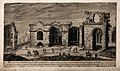 Baths of Diocletian, Rome; ruins. Engraving. Wellcome V0014414.jpg