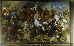 Battle of Iconium (1190) - The battle of Iconium, by Hermann Wislicenus (c.1890)