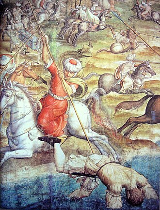 Conquest of Tunis (1535) - Image: Battle of Tunis 1535 Charles V vs Barbarossa