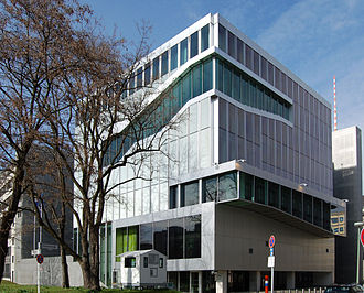 Embassy of the Netherlands, Berlin, Germany, opened in 2004. Koolhaas's design won the Architekturpreis Berlin in 2003 and the Mies van der Rohe Award for European Architecture in 2005. Be Dutch Embassy 01.JPG
