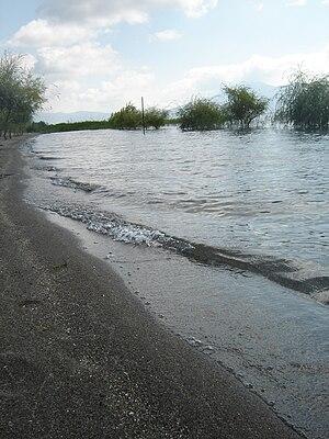 Lake Prespa - Image: Beach Ribarsko Selo