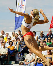 The beach volleyball classic is held on Weymouth beach every July.