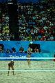 Beach volley at the Beijing Olympics - Brazil v. Australia.jpg