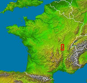 Beaujolais' location in France