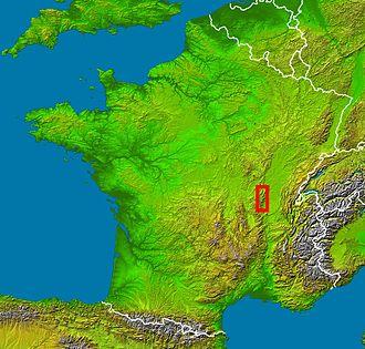 Beaujolais (province) - Beaujolais' location in France