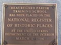 Beauregard Parish Training School plaque IMGA0626.JPG