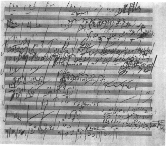 Symphony No. 6 (Beethoven) - Part of a sketch by Beethoven for the symphony
