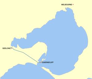 Bellarine Highway - Image: Bellarine Highway Victoria map