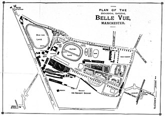 Belle Vue Zoological Gardens - Plan of the gardens from the official guide published for the 1892 season
