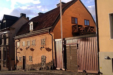 The Stockholm house where Bellman lived from 1770 to 1774 Bellmanhuset.jpg