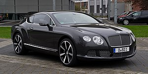 Bentley Continental GT - Image: Bentley Continental GT (II) – Frontansicht (3), 5. April 2012, Düsseldorf