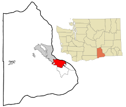 Location of Kennewick, Washington