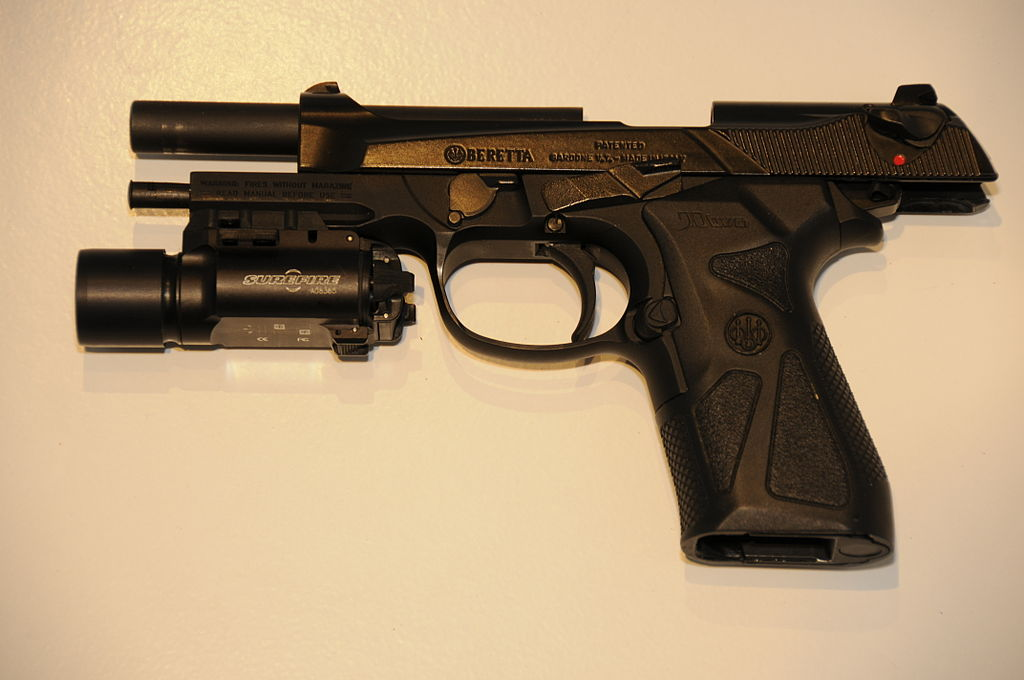 Beretta90TWO fitted with a SureFire X300 flashlight