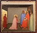Bernardo daddi, storie di santo stefano, 1337-38 (musei vaticani) 03 luciano racconta il sogno al patriarca giovanni.jpg