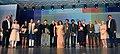 Bharat Vir Wanchoo, the Chief Minister of Goa, Shri Manohar Parrikar, the Film Director, Ms. Meera Nair, the Director, IFFI, Shri Shankar Mohan, International Jury members and awardees.jpg