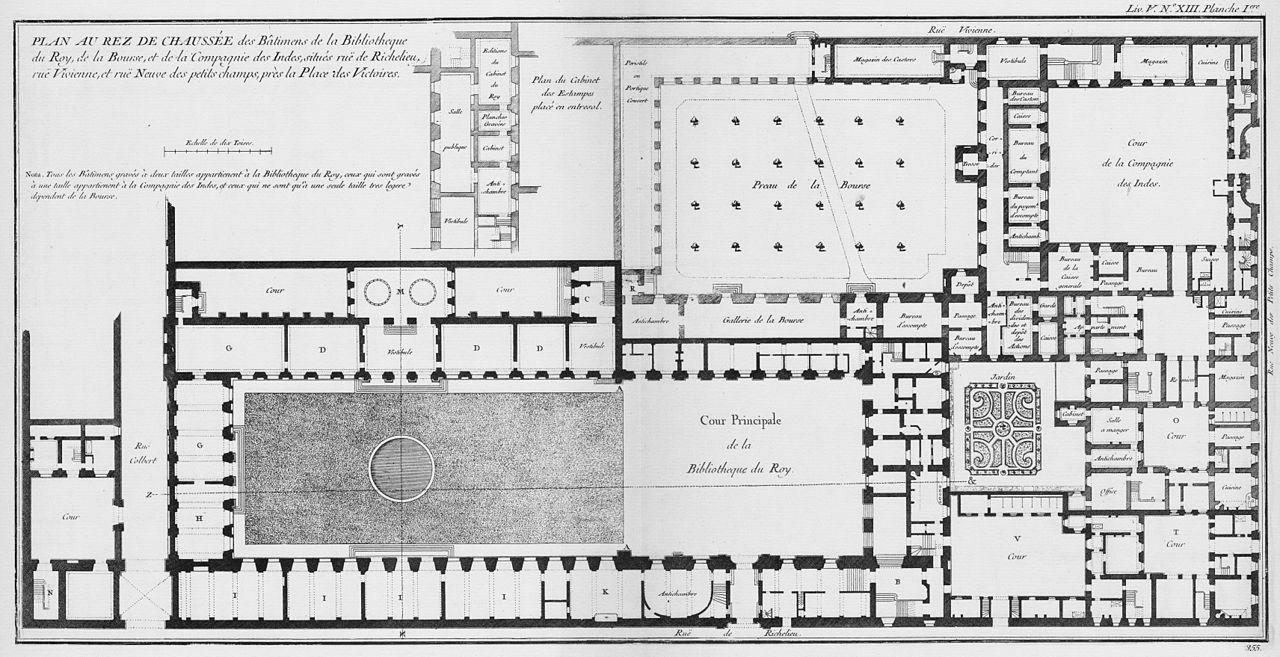Filebibliothèque du roi plan du rez de chaussée architecture françoise tome3 livre5 ch13 pl1 jpg
