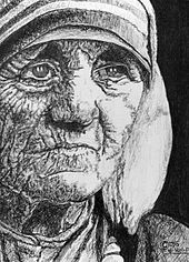 Ritratto di Madre Teresa.