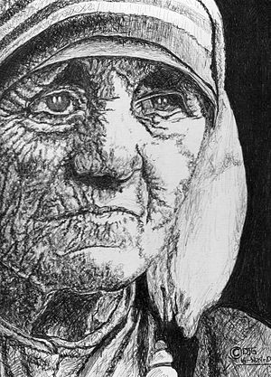 English: The Inspirational Mother Teresa. Medi...