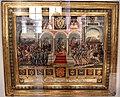 Biccherna 63, attr. alle monache di s. marta, pace di Cateau-Cambrésis tra filippo II ed enrico II, 1559.jpg